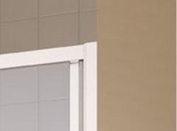 Kermi Posuvné dveře Cada XS G2R 14020 1370-1410/2000 stříbrná vys.lesk ESG čiré Clean 2-dílné posuvné dveře s pevným polem pevné pole vpravo (CCG2R14020VPK), fotografie 4/6