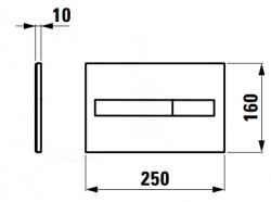 Laufen - Splachovací tlačítko AW1, Dual Flush - lesklý chrom plast (Splachovací tlačítko AW1, Dual Flush - lesklý chrom plast (H8956610040001)), fotografie 2/1