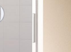Kermi Posuvné dveře Cada XS G2R 14020 1370-1410/2000 stříbrná vys.lesk Serig.CC Clean 2-dílné posuvné dveře s pevným polem pevné pole vpravo (CCG2R14020VVK), fotografie 2/7