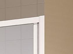 Kermi Posuvné dveře Cada XS G3R 10020 970-1010/2000 bílá ESG čiré Clean 3-dílné posuvné dveře s pevným polem pevné pole vpravo (CCG3R100202PK), fotografie 8/6