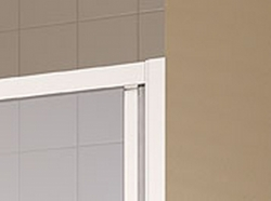Kermi Posuvné dveře Cada XS G3R 07020 670-710/2000 stříbrná vys.lesk ESG čiré Clean 3-dílné posuvné dveře s pevným polem pevné pole vpravo (CCG3R07020VPK), fotografie 8/6
