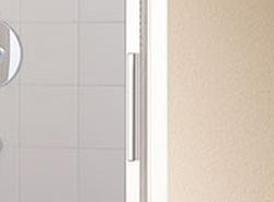 Kermi Posuvné dveře Cada XS G3R 07020 670-710/2000 stříbrná vys.lesk ESG čiré Clean 3-dílné posuvné dveře s pevným polem pevné pole vpravo (CCG3R07020VPK), fotografie 10/6