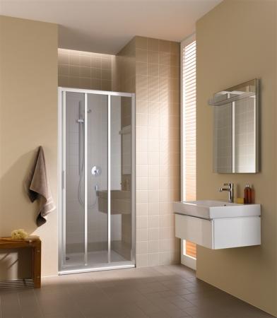 Kermi Posuvné dveře Cada XS G3R 07520 720-760/2000 stříbrná vys.lesk Serig.CC Clean 3-dílné posuvné dveře s pevným polem pevné pole vpravo (CCG3R07520VVK)