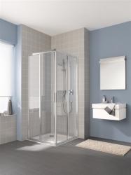 Kermi Rohový vstup Cada XS E2R 09020 875-900/2000 stříbrná vys.lesk ESG čiré Clean Rohový vstup 2-dílný (posuvné dveře) pravý poloviční díl (CCE2R09020VPK)