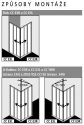 Kermi Rohový vstup Cada XS E2R 09020 875-900/2000 stříbrná vys.lesk ESG čiré Clean Rohový vstup 2-dílný (posuvné dveře) pravý poloviční díl (CCE2R09020VPK), fotografie 4/7