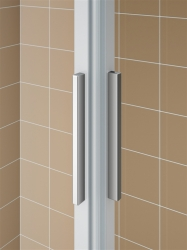 Kermi Rohový vstup Cada XS E3R 07520 725-750/2000 stříbrná vys.lesk ESG čiré Clean Rohový vstup 3-dílný (posuvné dveře) pravý poloviční díl (CCE3R07520VPK), fotografie 10/8