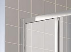 Kermi Rohový vstup Cada XS E3L 10020 975-1000/2000 stříbrná vys.lesk ESG čiré Clean Rohový vstup 3-dílný (posuvné dveře) levý poloviční díl (CCE3L10020VPK), fotografie 2/8