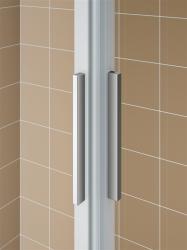 Kermi Rohový vstup Cada XS E3L 10020 975-1000/2000 stříbrná vys.lesk ESG čiré Clean Rohový vstup 3-dílný (posuvné dveře) levý poloviční díl (CCE3L10020VPK), fotografie 10/8