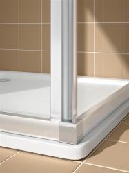 Kermi Rohový vstup Cada XS E3L 10020 975-1000/2000 stříbrná vys.lesk ESG čiré Clean Rohový vstup 3-dílný (posuvné dveře) levý poloviční díl (CCE3L10020VPK), fotografie 12/8
