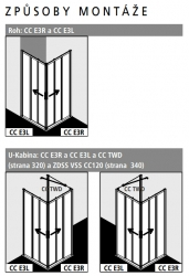 Kermi Rohový vstup Cada XS E3R 12020 1175-1200/2000 stříbrná vys.lesk Serig.CC Clean Rohový vstup 3-dílný (posuvné dveře) pravý poloviční díl (CCE3R12020VVK), fotografie 4/9