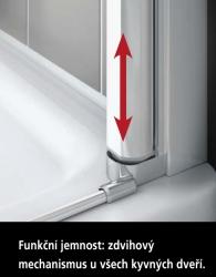 Kermi Čtvrtkruh Cada XS P55 08020 775-800/2000 bílá ESG čiré Clean Čtvrtkruh (kyvné dveře s pevnými poli) (CCP55080202PK), fotografie 12/8