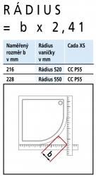 Kermi Čtvrtkruh Cada XS P55 09020 875-900/2000 bílá ESG čiré Clean Čtvrtkruh (kyvné dveře s pevnými poli) (CCP55090202PK), fotografie 6/8