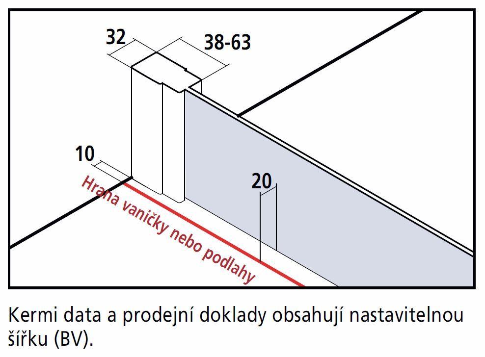 Kermi Čtvrtkruh Cada XS P55 10120 975-1000/2000 bílá ESG čiré Clean Čtvrtkruh (kyvné dveře s pevnými poli) (CCP55101202PK)