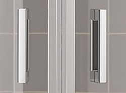 Kermi Čtvrtkruh Cada XS P55 08020 775-800/2000 stříbrná vys.lesk ESG čiré Clean Čtvrtkruh (kyvné dveře s pevnými poli) (CCP5508020VPK), fotografie 8/8