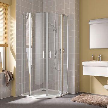 Kermi Čtvrtkruh Cada XS P55 09020 875-900/2000 stříbrná vys.lesk ESG čiré Clean Čtvrtkruh (kyvné dve