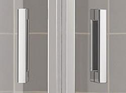 Kermi Čtvrtkruh Cada XS P55 10120 975-1000/2000 stříbrná vys.lesk ESG čiré Clean Čtvrtkruh (kyvné dveře s pevnými poli) (CCP5510120VPK), fotografie 8/8