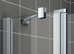 Kermi Čtvrtkruh Cada XS P55 10120 975-1000/2000 stříbrná vys.lesk ESG čiré Clean Čtvrtkruh (kyvné dveře s pevnými poli) (CCP5510120VPK), fotografie 10/8