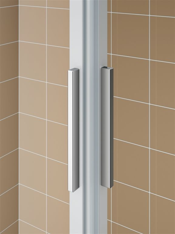 Kermi Čtvrtkruh Cada XS R55 09020 875-900/2000 bílá ESG čiré Clean Čtvrtkruh (posuvné dveře)  (CCR55090202PK)