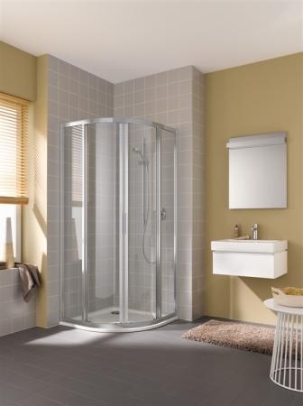 Kermi Čtvrtkruh Cada XS R55 10120 975-1000/2000 bílá ESG čiré Clean Čtvrtkruh (posuvné dveře)  (CCR55101202PK)