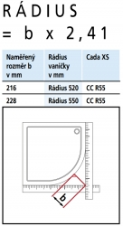 Kermi Čtvrtkruh Cada XS R55 10120 975-1000/2000 bílá ESG čiré Clean Čtvrtkruh (posuvné dveře)  (CCR55101202PK), fotografie 6/6