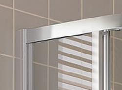 Kermi Čtvrtkruh Cada XS R55 09020 875-900/2000 stříbrná vys.lesk ESG čiré Clean Čtvrtkruh (posuvné dveře)  (CCR5509020VPK), fotografie 8/6