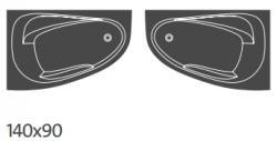 CERSANIT - VANA JOANNA NEW LEVÁ 140X90 cm (S301-165), fotografie 6/4