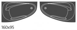 CERSANIT - VANA JOANNA NEW LEVÁ 160X95 cm (S301-170), fotografie 2/4