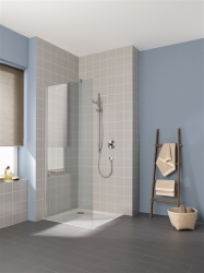 Kermi Boční stěna Cada XS TWF 07020 675-700/2000 bílá ESG čiré Clean boční stěna volně stojící  (CCTWF070202PK)