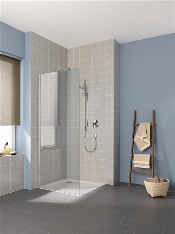 Kermi Boční stěna Cada XS TWF 09020 875-900/2000 bílá ESG čiré Clean boční stěna volně stojící  (CCTWF090202PK)
