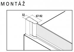 Kermi Otočné křídlo Cada XS DFR 07516 730-755/1600 Serig.CC Clean Otočná vanová zástěna  (CCDFR07516VVK), fotografie 4/6