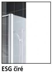 Kermi Otočné křídlo Cada XS DTR 10516 1030-1055/1600 stříbrná vys.lesk ESG čiré Clean Otočné křídlo spevným polem na vaně - upevnění vpravo (CCDTR10516VPK), fotografie 12/6