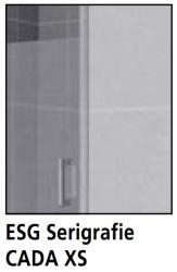 Kermi Otočné křídlo Cada XS DTR 10516 1030-1055/1600 stříbrná vys.lesk Serig.CC Clean Otočné křídlo spevným polem na vaně - upevnění vpravo (CCDTR10516VVK), fotografie 12/6