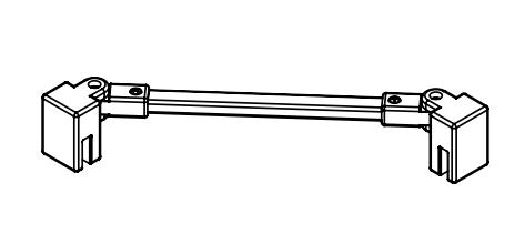 Kermi Stabilizátor Cada XS SSVSW Länge 500 mm bílá ZDSSVSWCC0502K