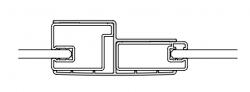 Kermi Komb.profil Cada XS KPKTF Höhe 2000 mm stříbrná vys.lesk   (ZDKPKTFCC200VK)
