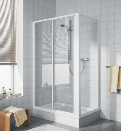 Kermi Posuvné dveře Cada ST2 12019 1140-1210/1900 bílá ESG čiré Clean Dvoudílné posuvné dveře s pevným polem  (CAST2120192PK)