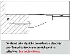 Kermi Kyvné dveře Filia XP 1TR 07520 730-760/2000 stříbrná vys.lesk ESG čiré Clean 1-křídlé kyvné dveře s p. polem panty vpravo (FX1TR07520VPK), fotografie 4/7