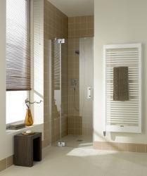 Kermi Kyvné dveře Filia XP 1TR 11020 1080-1110/2000 stříbrná vys.lesk ESG čiré Clean 1-křídlé kyvné dveře s p. polem panty vpravo (FX1TR11020VPK)