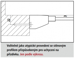 KERMI - FILIA XP / Jednokřídlé kyvné dveře s pevným polem vlevo, do niky (FX1TL11020VPK), fotografie 4/8