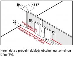 KERMI - FILIA XP / Jednokřídlé kyvné dveře s pevným polem vlevo, do niky (FX1TL11020VPK), fotografie 8/8