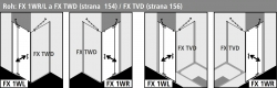 Kermi Kyvné dveře Filia XP 1WR 08020 775-800/2000 stříbrná vys.lesk ESG čiré Clean 1-křídlé kyvné dveře s p. polem pro boční stěnu/zkrácenou boční stěnu (FX1WR08020VPK), fotografie 6/8