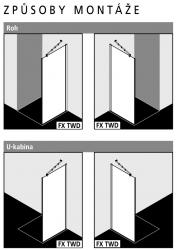 Kermi Boční stěna Filia XP TWD 08020 775-800/2000 stříbrná vys.lesk ESG čiré Clean boční stěna  (FXTWD08020VPK), fotografie 6/5