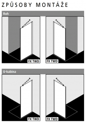 Kermi Boční stěna Filia XP TWD 09020 875-900/2000 stříbrná vys.lesk ESG čiré Clean boční stěna  (FXTWD09020VPK), fotografie 6/5