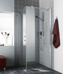 Kermi Boční stěna Filia XP TWD 09320 885-910/2000 stříbrná vys.lesk ESG čiré Clean boční stěna  (FXTWD09320VPK)