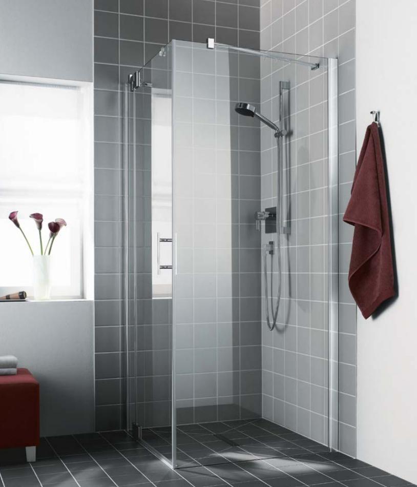 Kermi Boční stěna Filia XP TWD 10320 985-1010/2000 stříbrná vys.lesk ESG čiré Clean boční stěna  (FXTWD10320VPK)