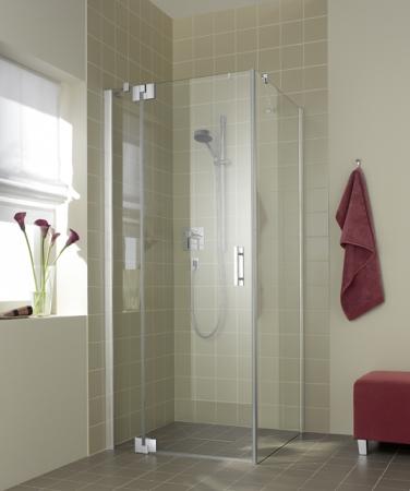 Kermi Kyvné dveře Filia XP 1WR 09320 885-910/2000 stříbrná vys.lesk ESG čiré Clean 1-křídlé kyvné dveře s p. polem pro boční stěnu/zkrácenou boční stěnu (FX1WR09320VPK)