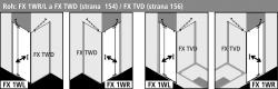 Kermi Kyvné dveře Filia XP 1WR 09320 885-910/2000 stříbrná vys.lesk ESG čiré Clean 1-křídlé kyvné dveře s p. polem pro boční stěnu/zkrácenou boční stěnu (FX1WR09320VPK), fotografie 6/8