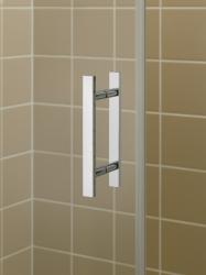 Kermi Kyvné dveře Filia XP 1WR 09320 885-910/2000 stříbrná vys.lesk ESG čiré Clean 1-křídlé kyvné dveře s p. polem pro boční stěnu/zkrácenou boční stěnu (FX1WR09320VPK), fotografie 12/8