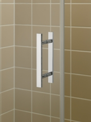 Kermi Kyvné dveře Filia XP 1WR 10320 985-1010/2000 stříbrná vys.lesk ESG čiré Clean 1-křídlé kyvné dveře s p. polem pro boční stěnu/zkrácenou boční stěnu (FX1WR10320VPK), fotografie 12/8