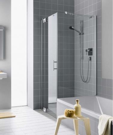 Kermi Boční stěna Filia XP TVD 08017 775-800/1750 stříbrná vys.lesk ESG čiré Clean boční stěna zkrácená vedle vany  (FXTVD08017VPK)