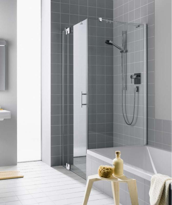 Kermi Boční stěna Filia XP TVD 10017 975-1000/1750 stříbrná vys.lesk ESG čiré Clean boční stěna zkrácená vedle vany (FXTVD10017VPK)